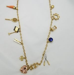 Tory burch rosary gold necklace